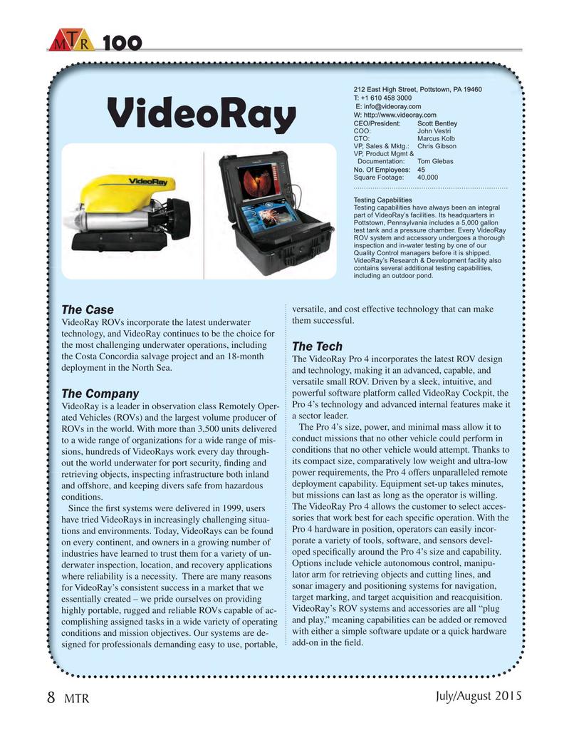 Marine Technology Magazine, page 8,  Jul 2015