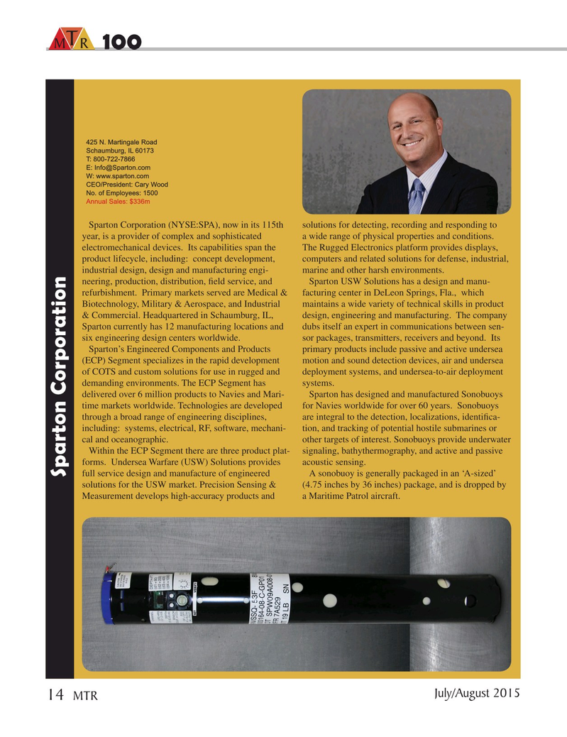 Marine Technology Magazine, page 14,  Jul 2015