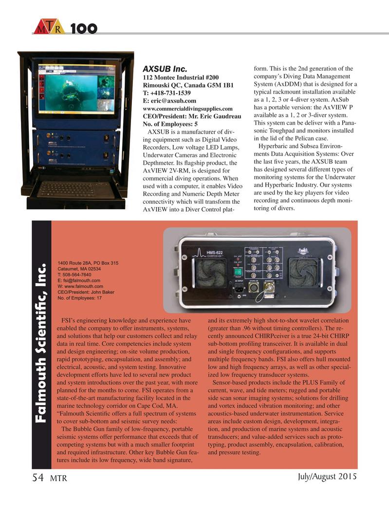 Marine Technology Magazine, page 54,  Jul 2015