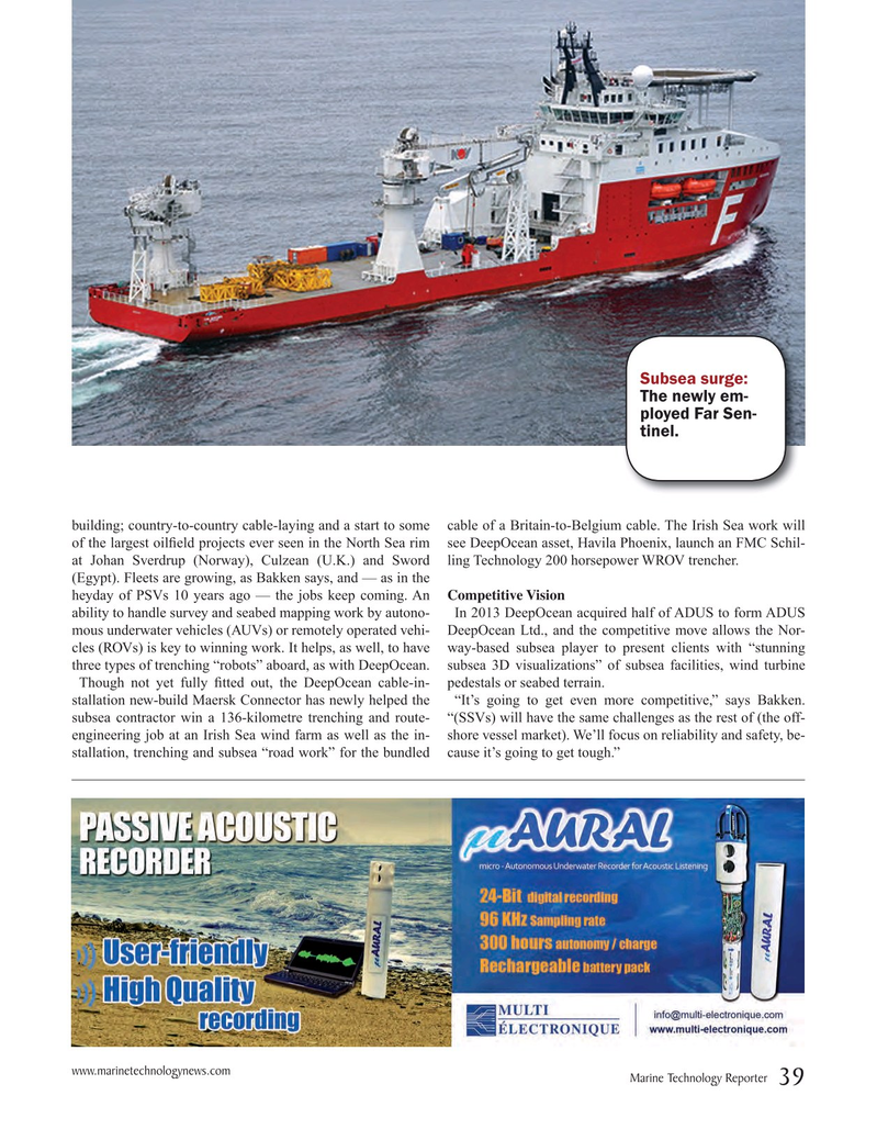 Marine Technology Magazine, page 39,  Nov 2015