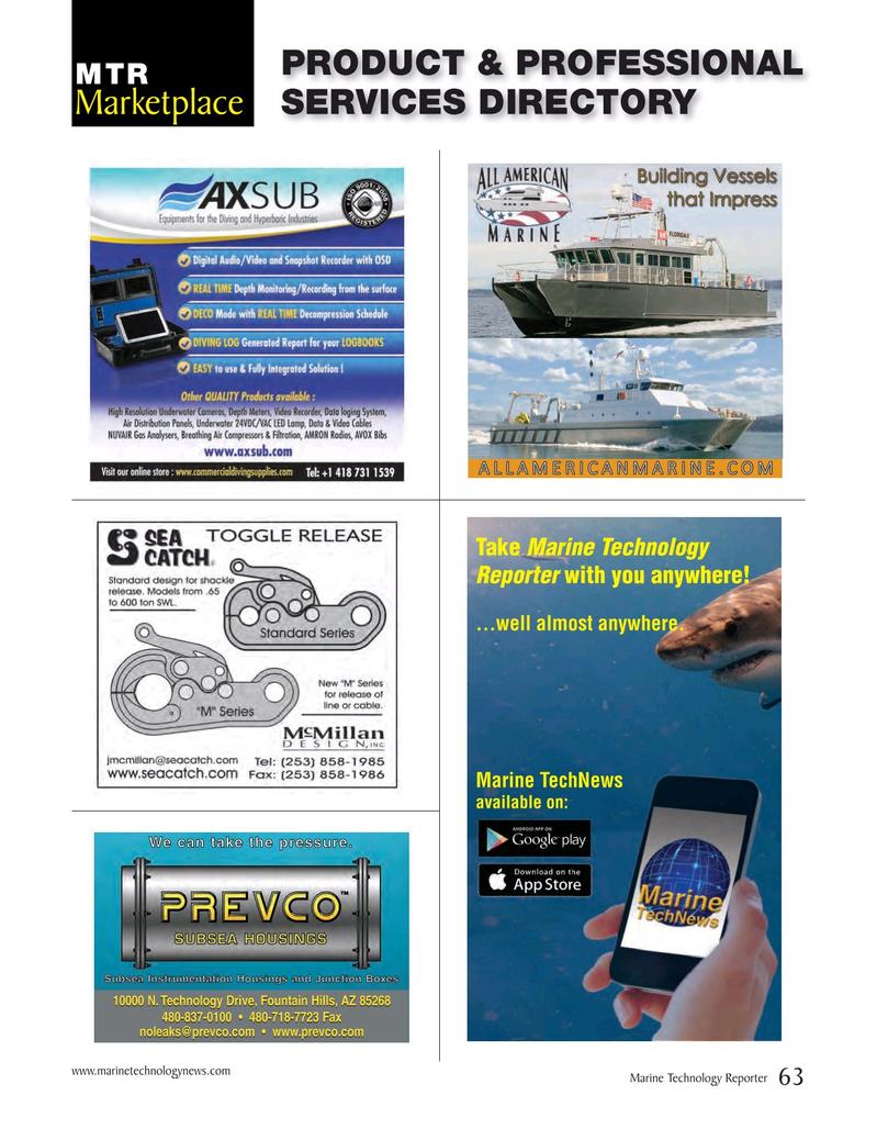 Marine Technology Magazine, page 63,  Nov 2015