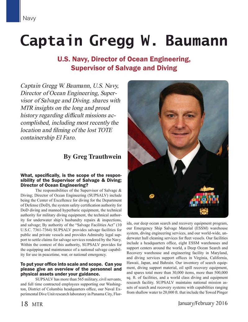 Marine Technology Magazine, page 18,  Jan 2016