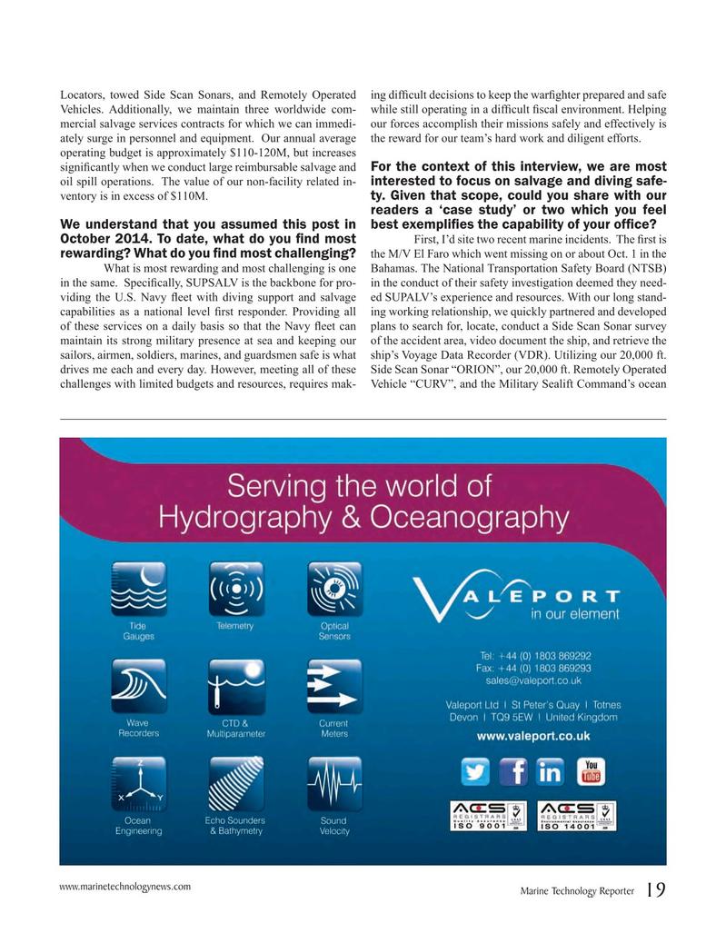 Marine Technology Magazine, page 19,  Jan 2016