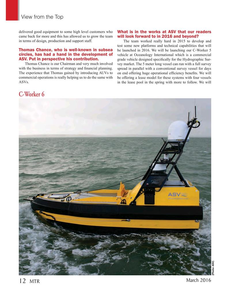 Marine Technology Magazine, page 12,  Mar 2016
