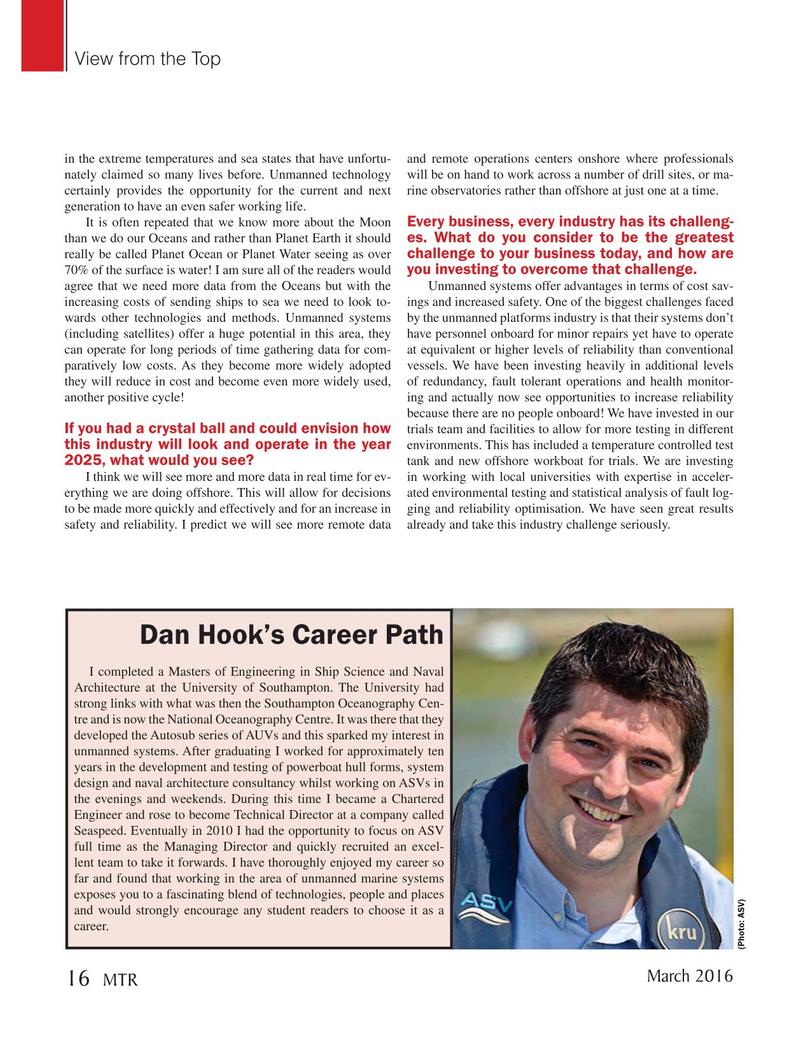 Marine Technology Magazine, page 16,  Mar 2016