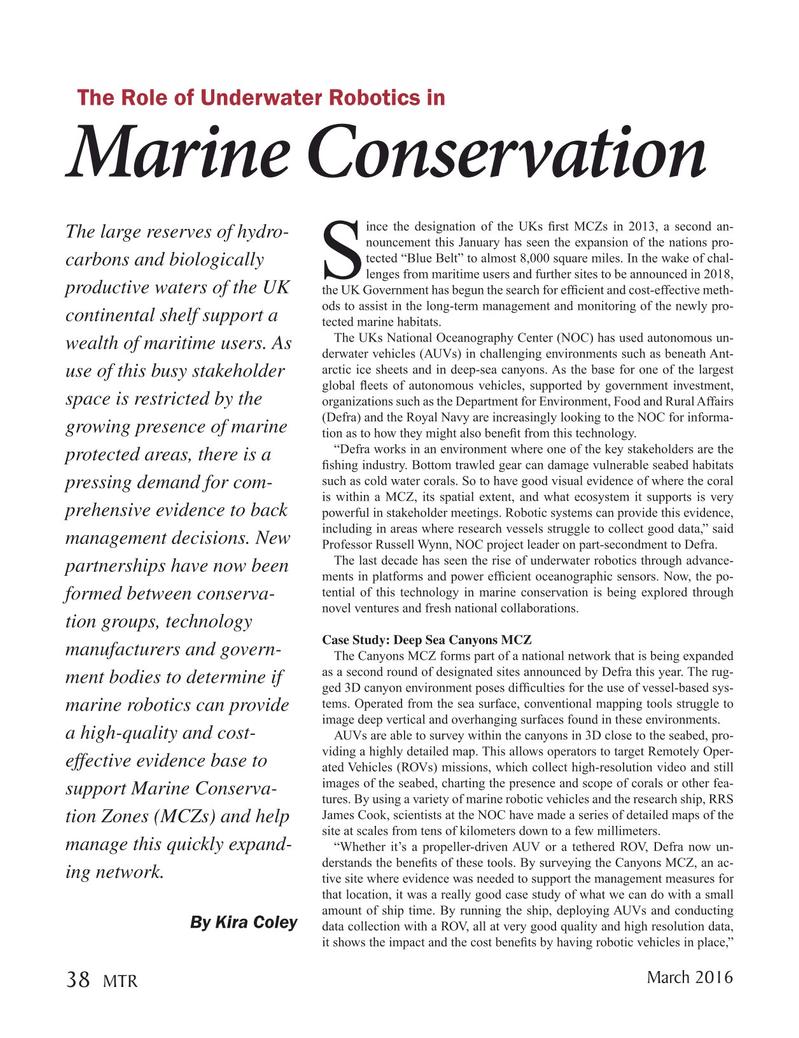 Marine Technology Magazine, page 38,  Mar 2016