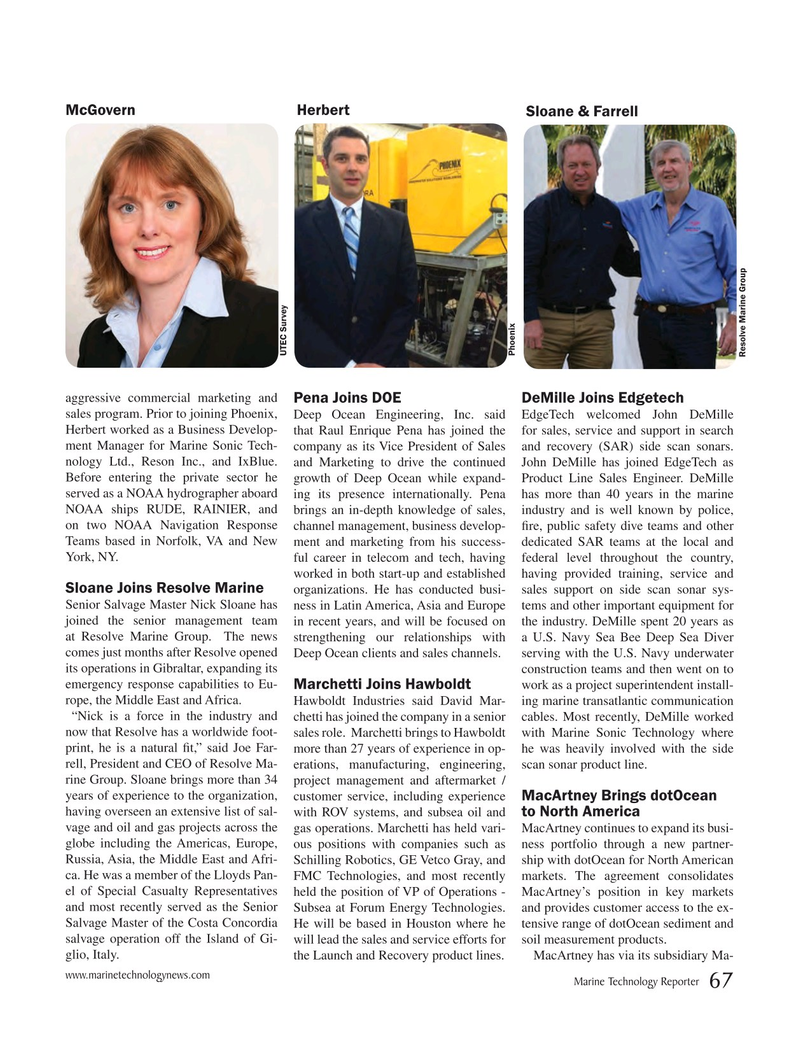 Marine Technology Magazine, page 67,  Mar 2016