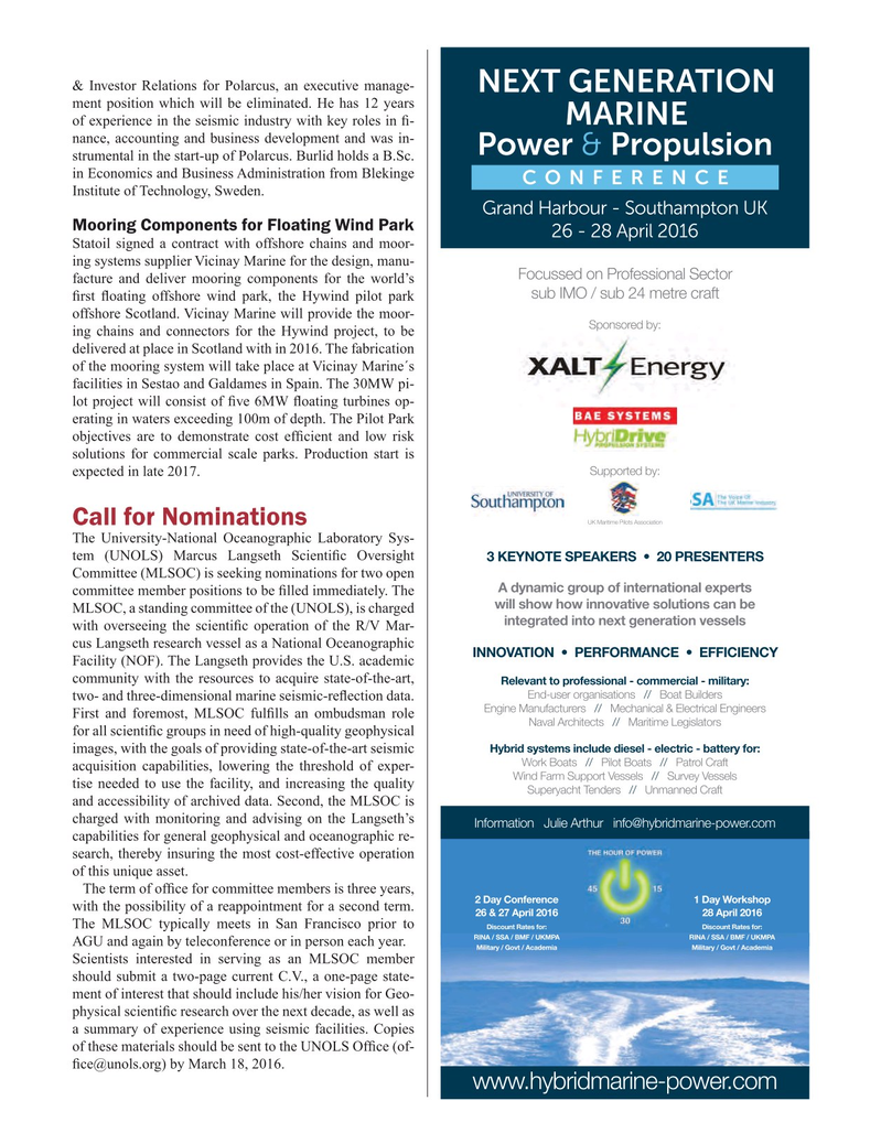 Marine Technology Magazine, page 69,  Mar 2016