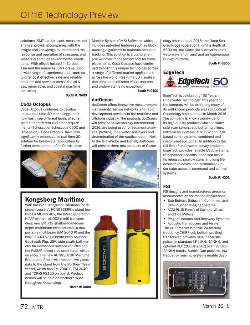 Marine Technology Magazine, page 72,  Mar 2016