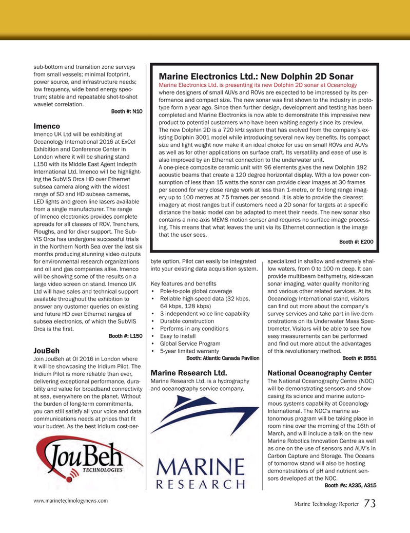 Marine Technology Magazine, page 73,  Mar 2016