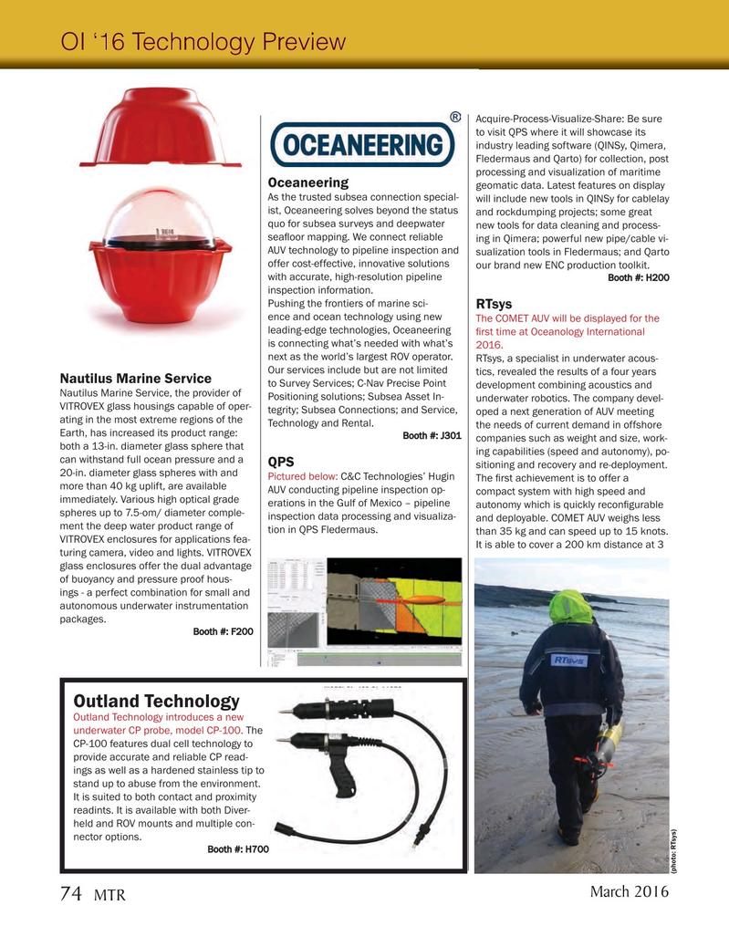 Marine Technology Magazine, page 74,  Mar 2016