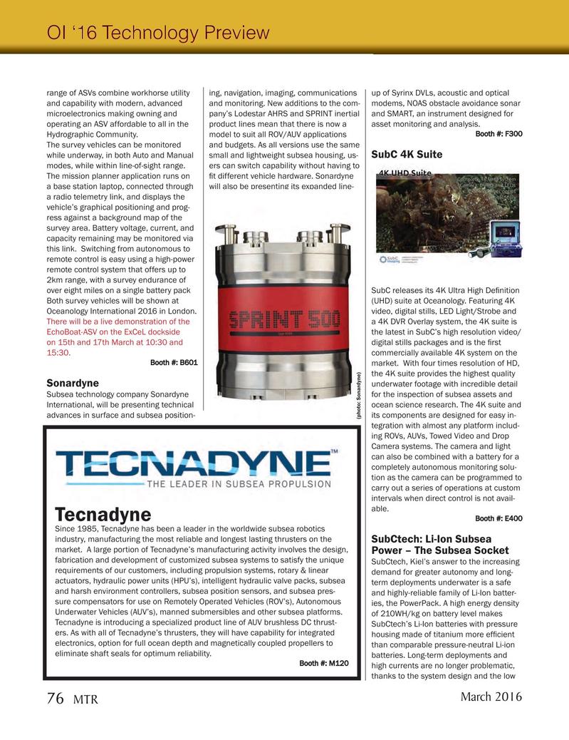 Marine Technology Magazine, page 76,  Mar 2016