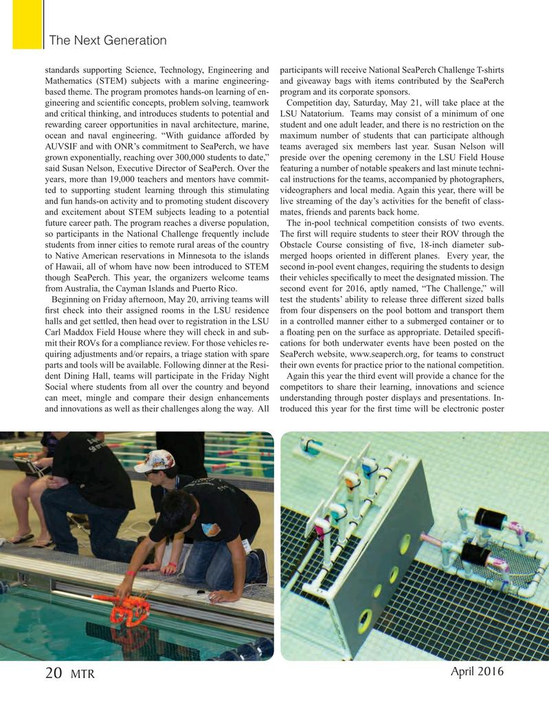 Marine Technology Magazine, page 20,  Apr 2016