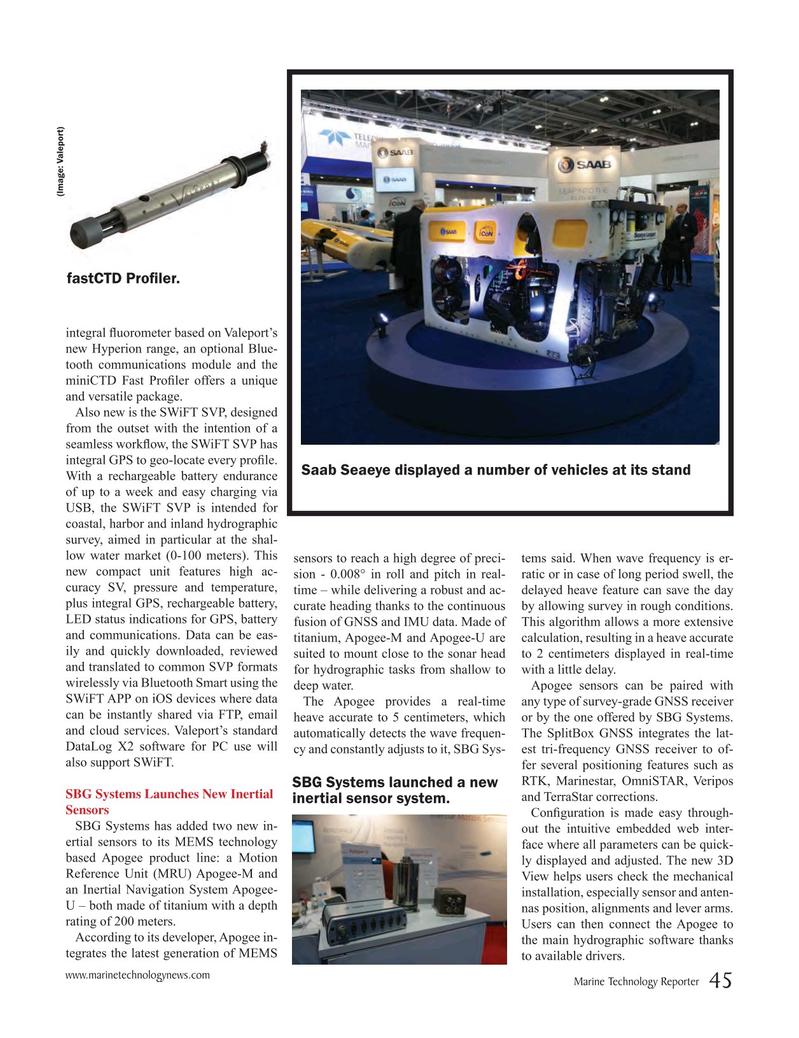 Marine Technology Magazine, page 45,  May 2016