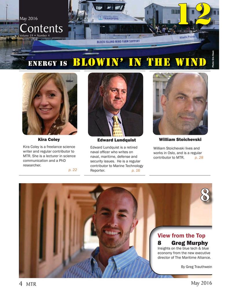 Marine Technology Magazine, page 4,  May 2016