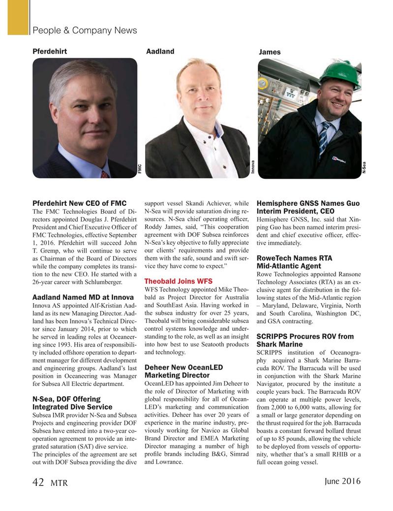 Marine Technology Magazine, page 42,  Jun 2016