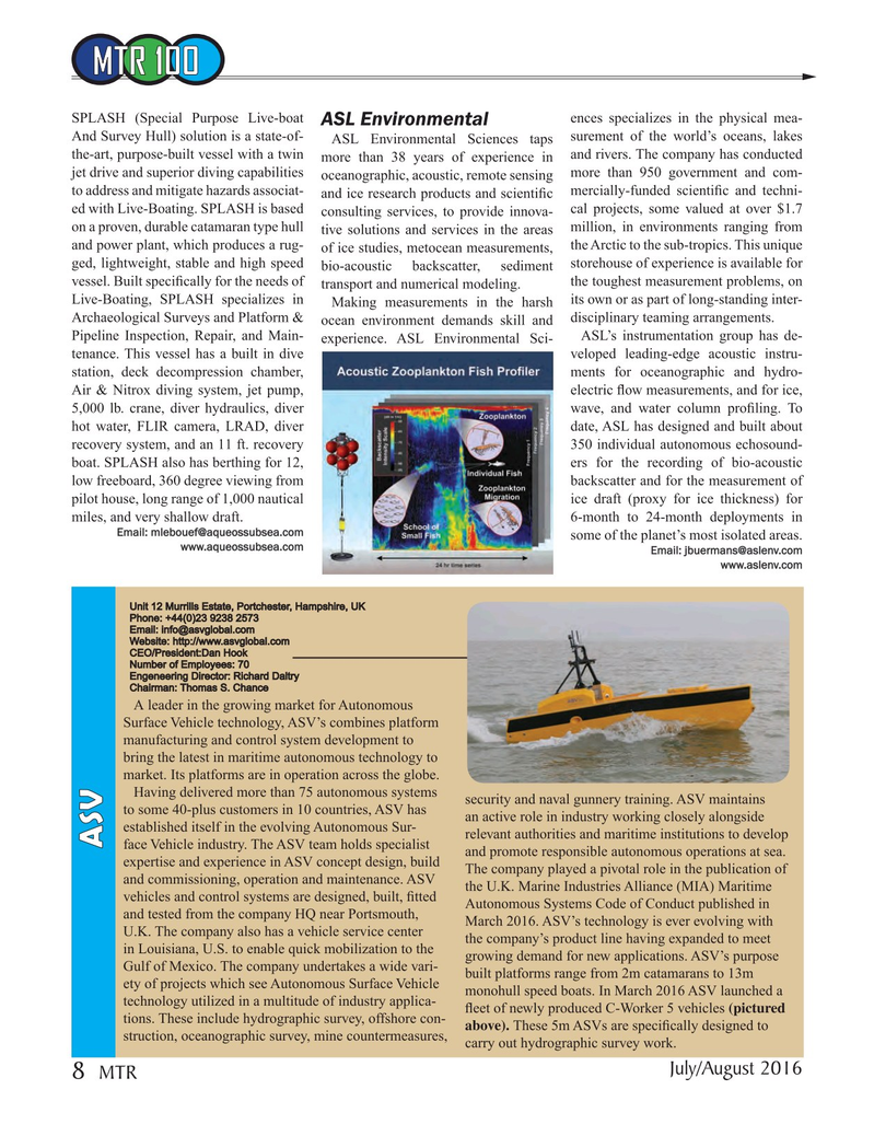 Marine Technology Magazine, page 8,  Jul 2016