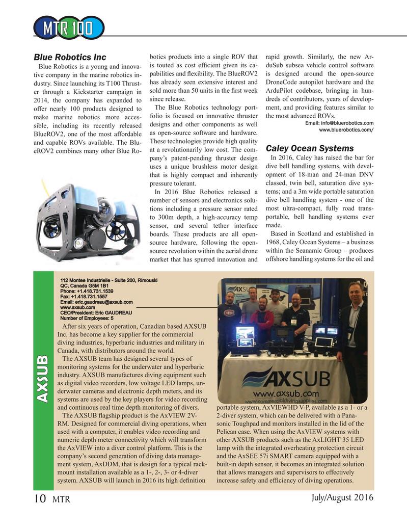 Marine Technology Magazine, page 10,  Jul 2016