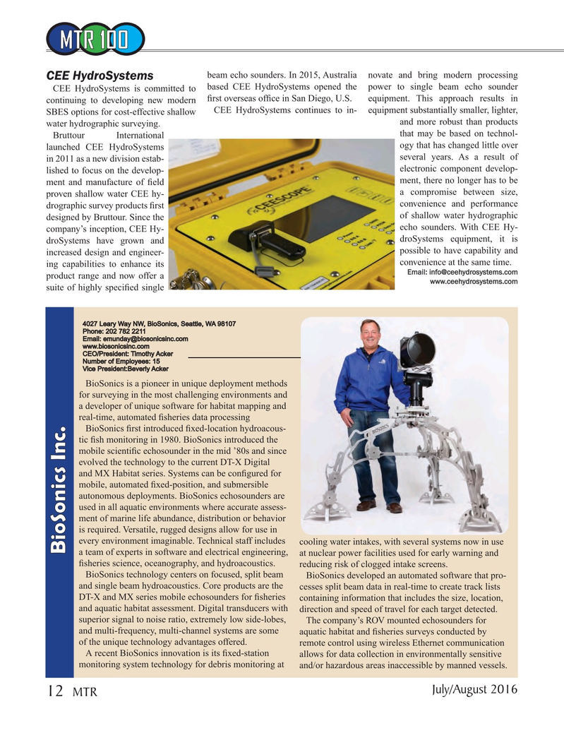 Marine Technology Magazine, page 12,  Jul 2016