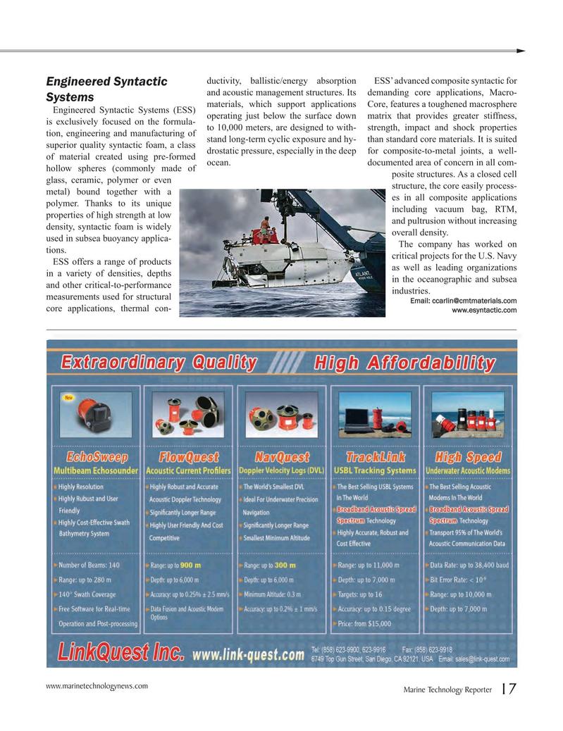 Marine Technology Magazine, page 17,  Jul 2016