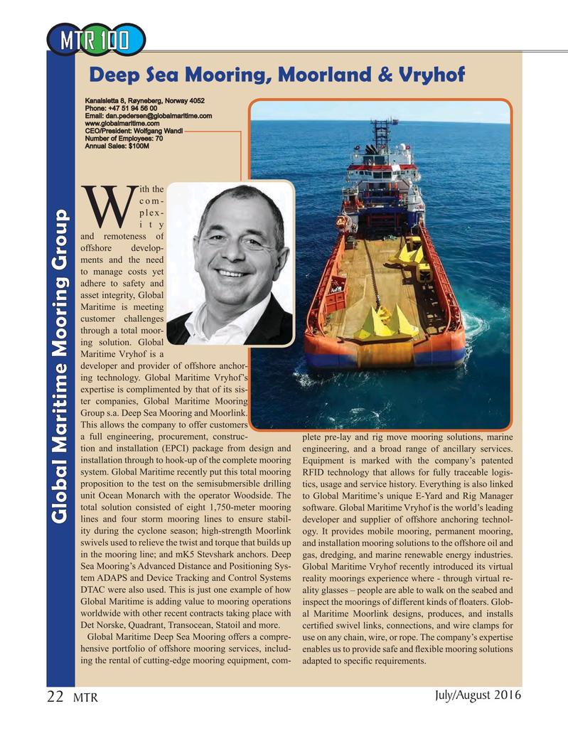 Marine Technology Magazine, page 22,  Jul 2016