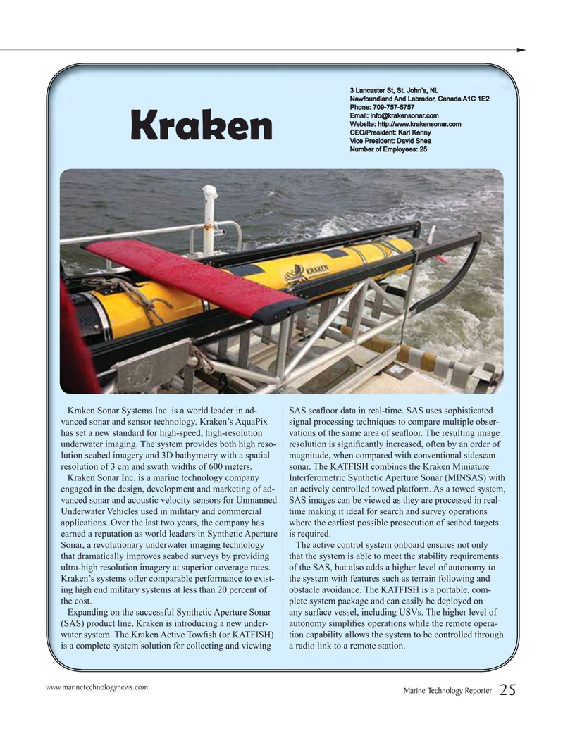 Marine Technology Magazine, page 25,  Jul 2016