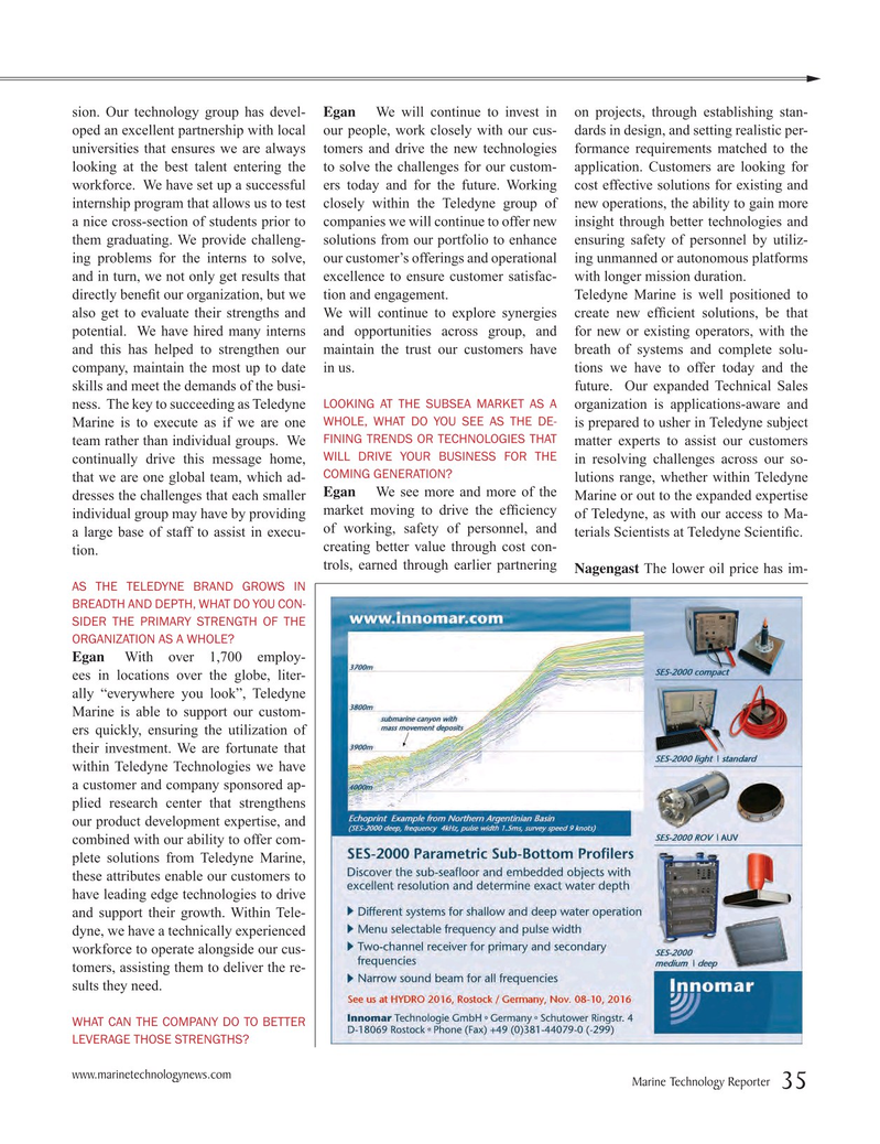 Marine Technology Magazine, page 35,  Jul 2016