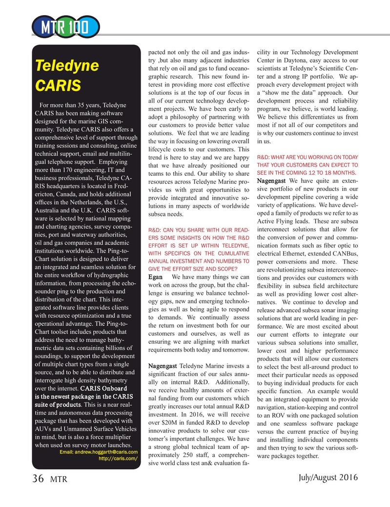 Marine Technology Magazine, page 36,  Jul 2016