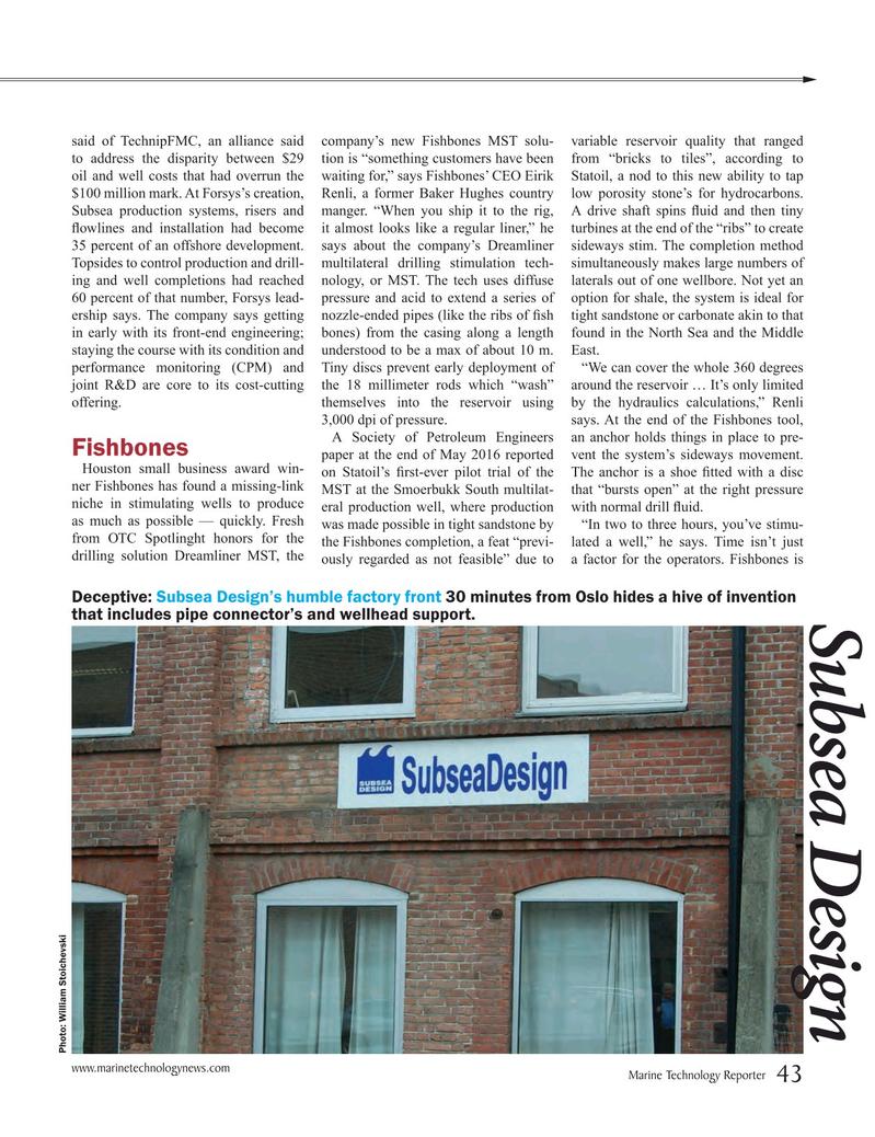 Marine Technology Magazine, page 43,  Jul 2016