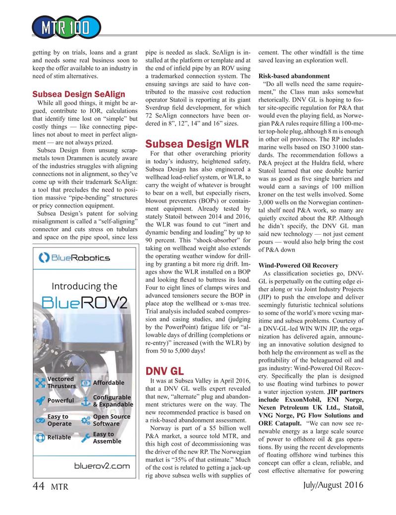 Marine Technology Magazine, page 44,  Jul 2016