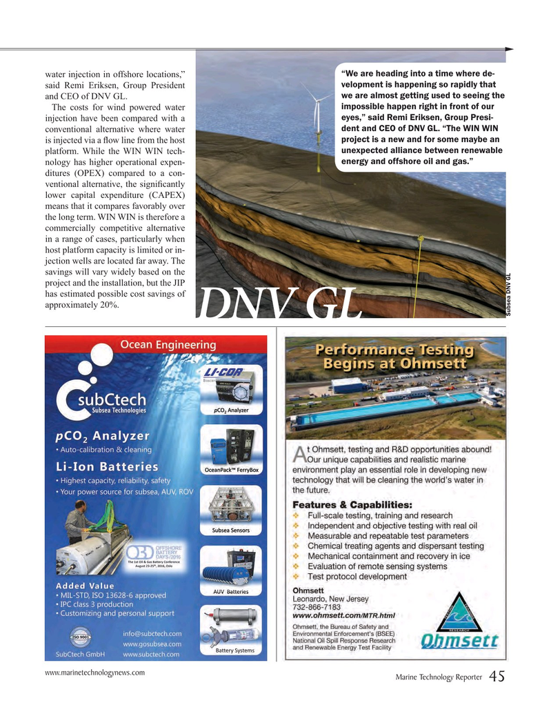 Marine Technology Magazine, page 45,  Jul 2016