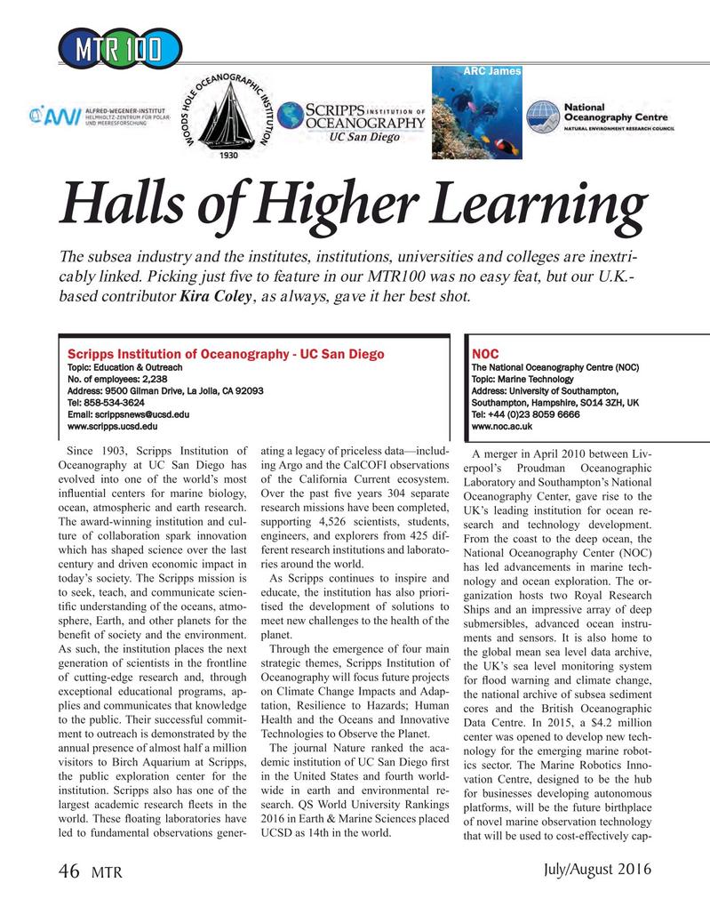 Marine Technology Magazine, page 46,  Jul 2016