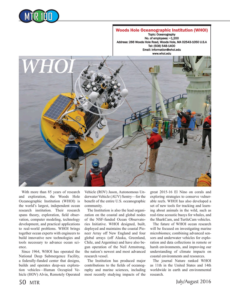 Marine Technology Magazine, page 50,  Jul 2016