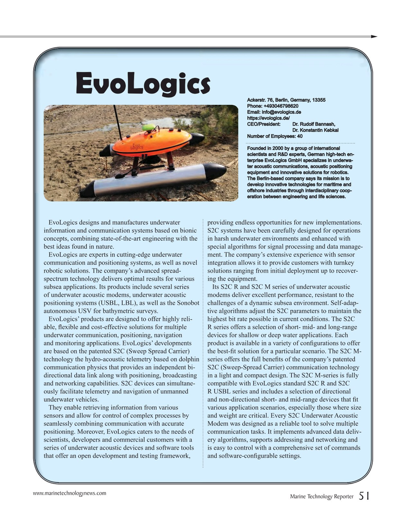 Marine Technology Magazine, page 51,  Jul 2016