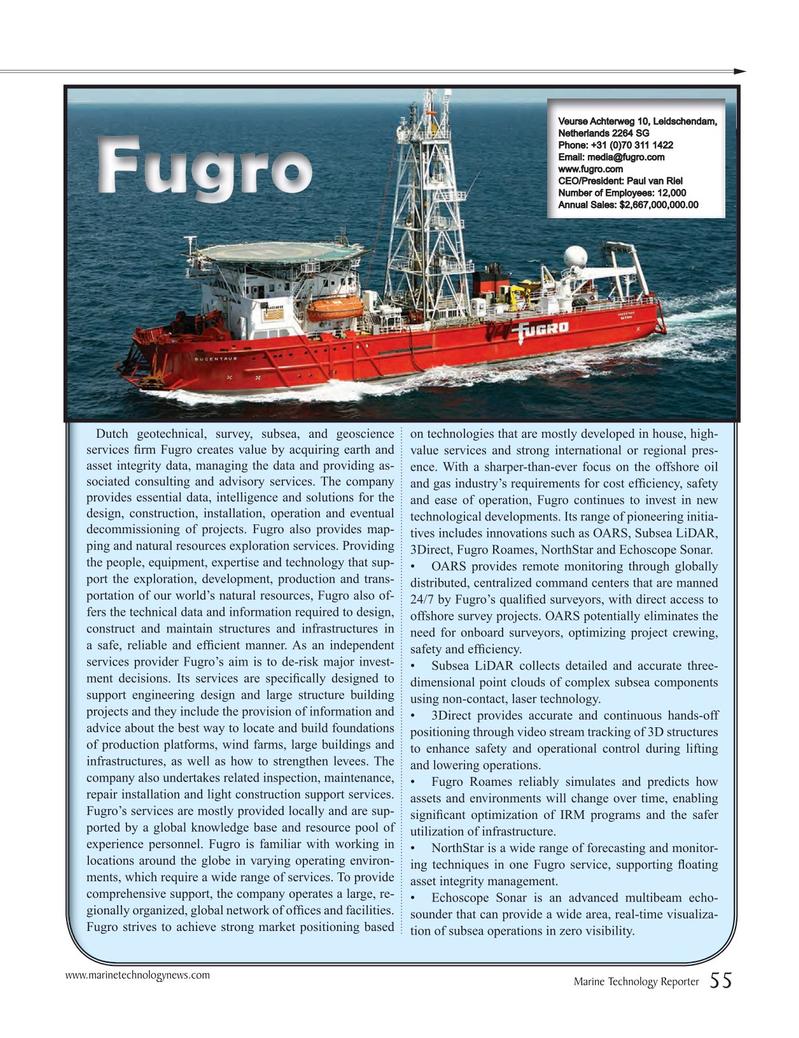 Marine Technology Magazine, page 55,  Jul 2016