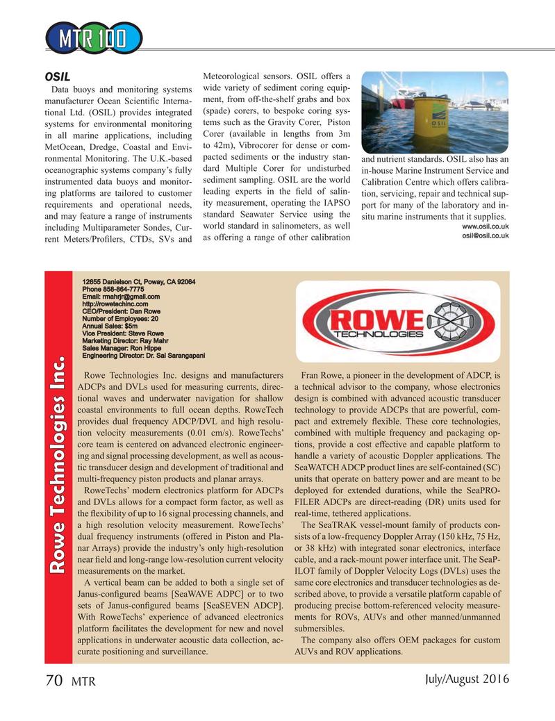 Marine Technology Magazine, page 70,  Jul 2016