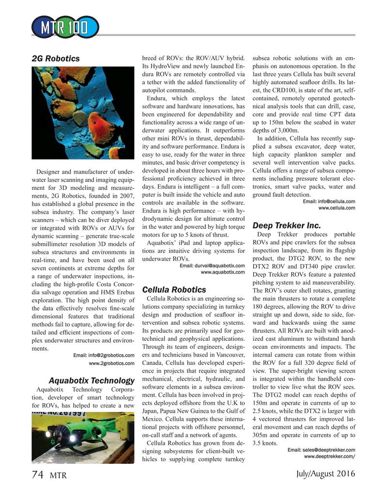 Marine Technology Magazine, page 74,  Jul 2016