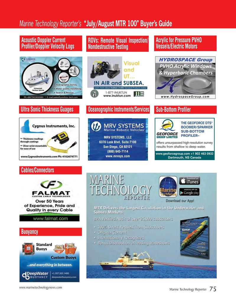 Marine Technology Magazine, page 75,  Jul 2016