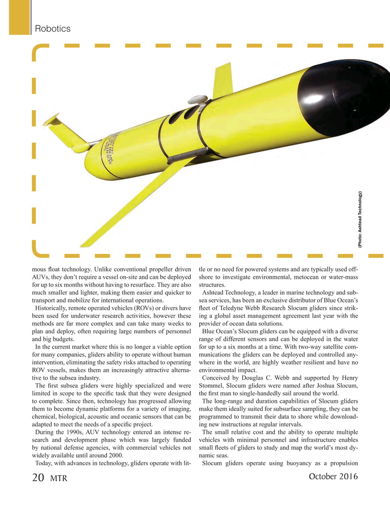 Marine Technology Magazine, page 20,  Oct 2016