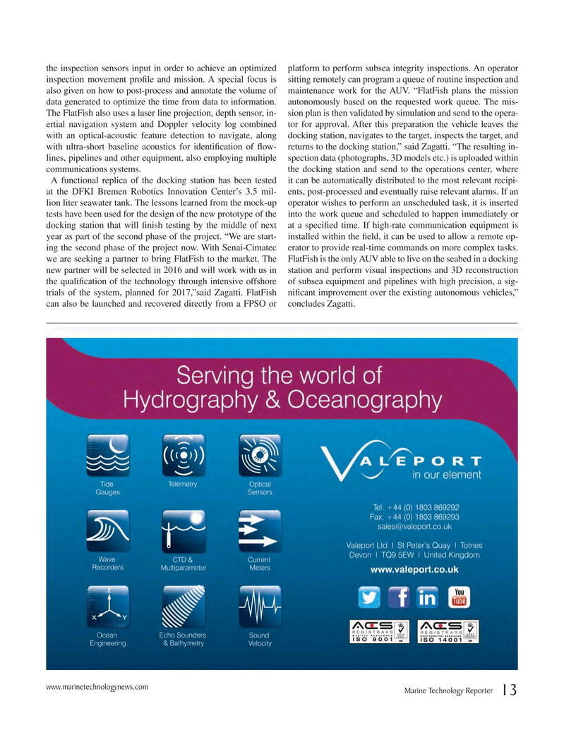 Marine Technology Magazine, page 13,  Nov 2016