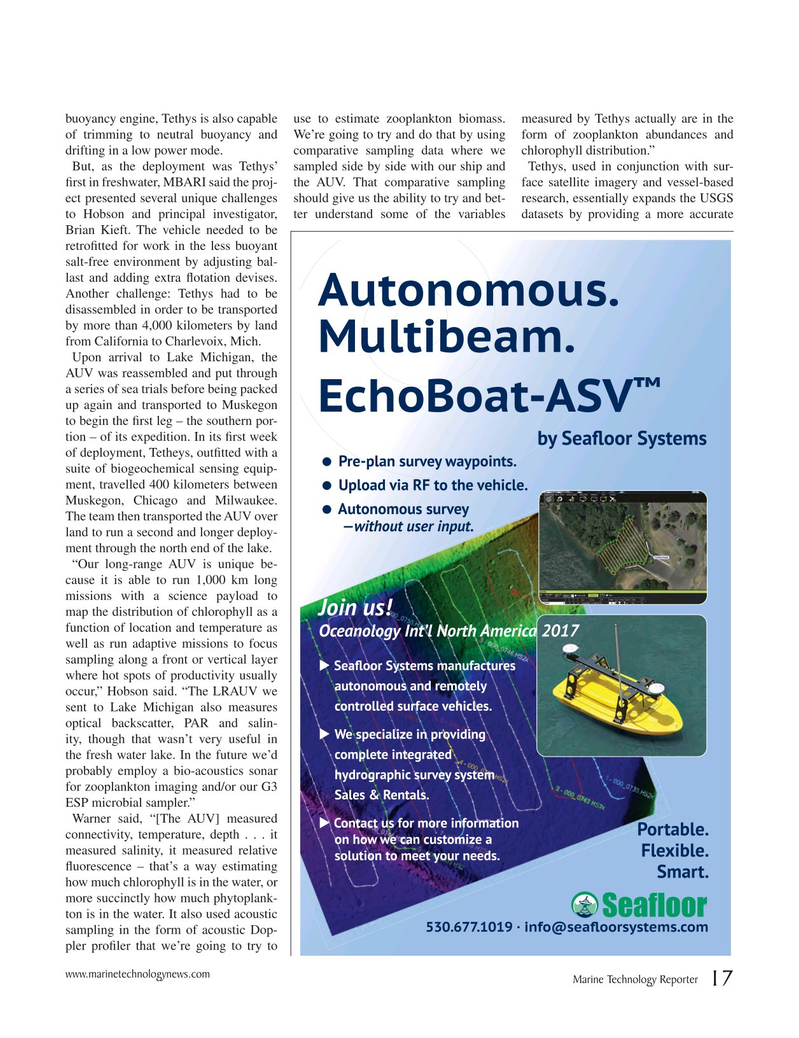 Marine Technology Magazine, page 17,  Nov 2016