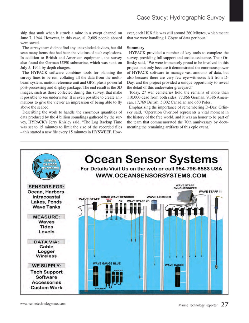 Marine Technology Magazine, page 27,  Nov 2016