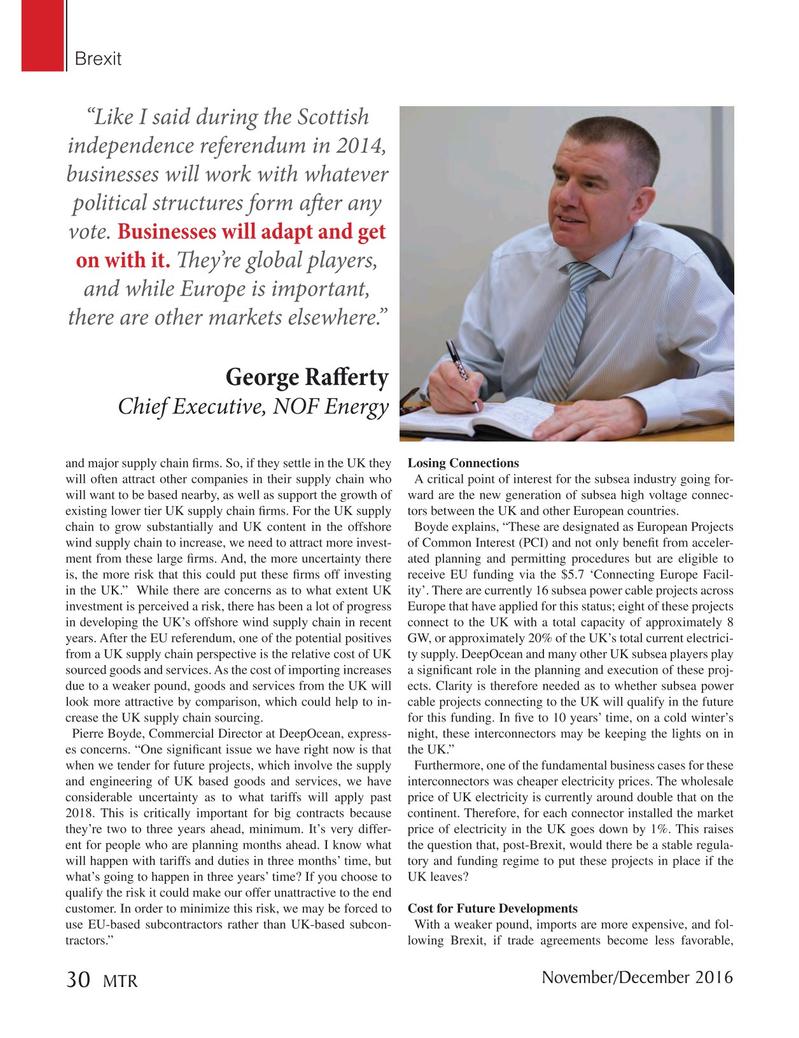 Marine Technology Magazine, page 30,  Nov 2016