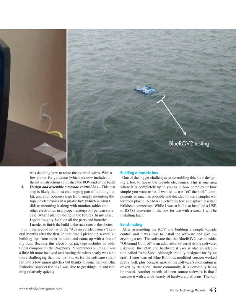 Marine Technology Magazine, page 43,  Nov 2016