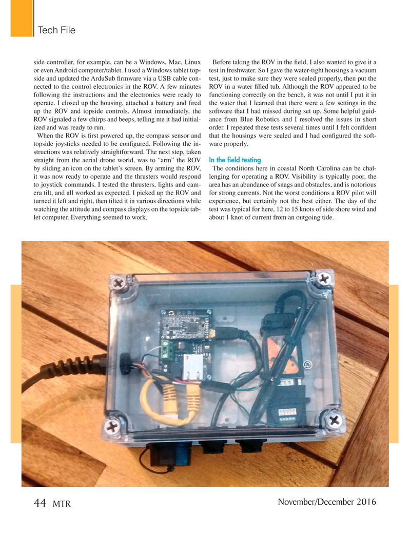 Marine Technology Magazine, page 44,  Nov 2016