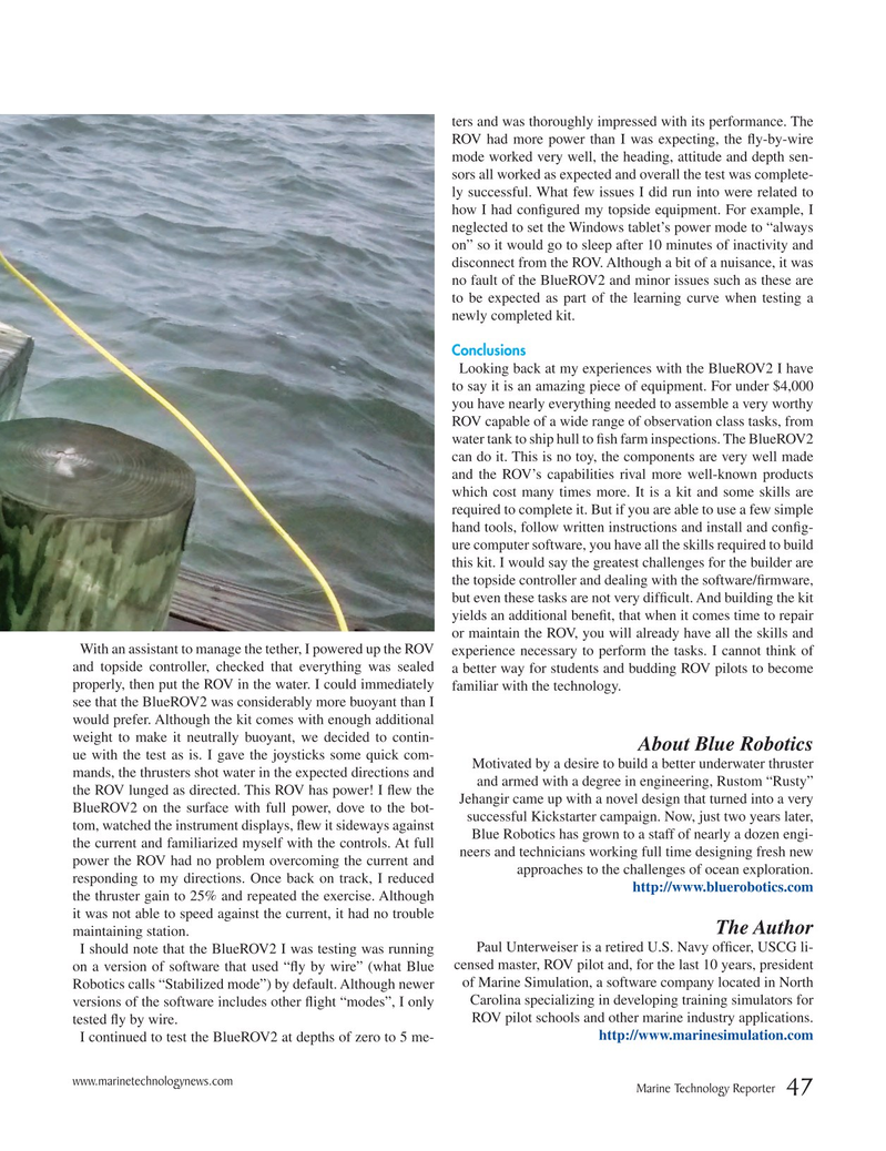 Marine Technology Magazine, page 47,  Nov 2016