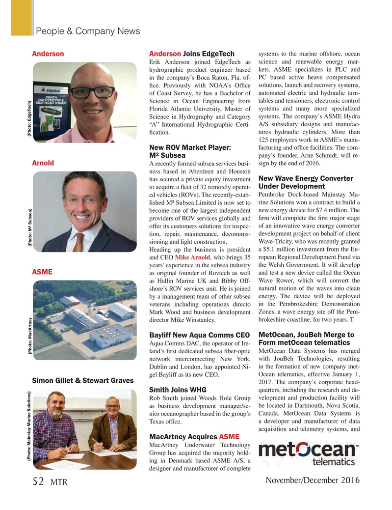 Marine Technology Magazine, page 52,  Nov 2016