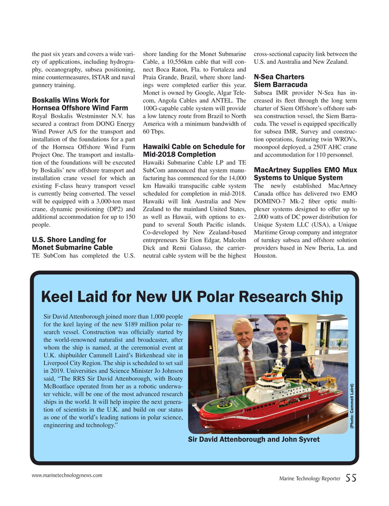 Marine Technology Magazine, page 55,  Nov 2016