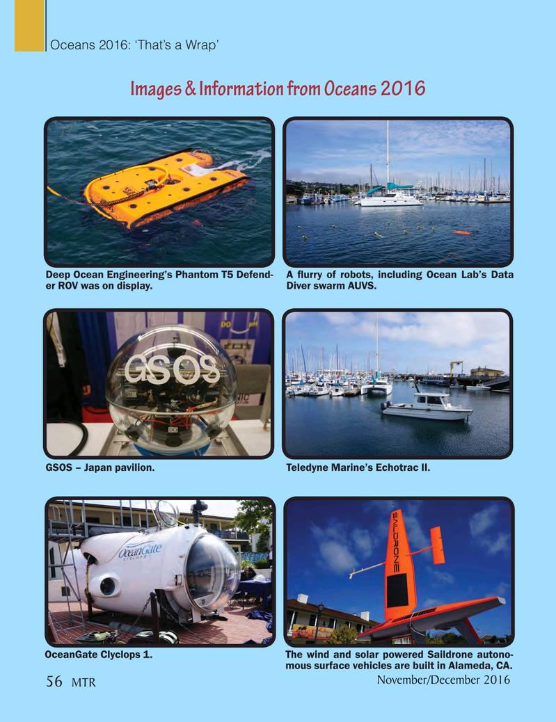 Marine Technology Magazine, page 56,  Nov 2016