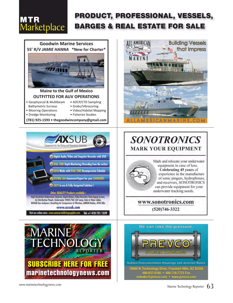 Marine Technology Magazine, page 63,  Nov 2016